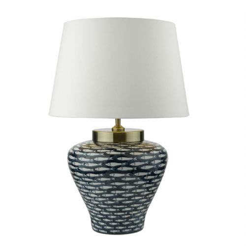 Joy Table Lamp Blue White Base Only (Class 2 Double Insulated)